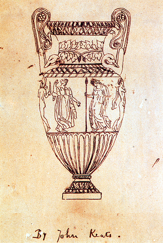 Keats Sketch of Urn-Sosibios Vase